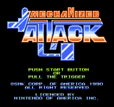 Mechanized Attack title screenshot