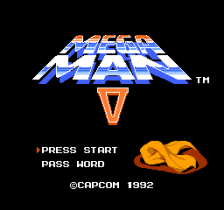 Mega Man 5 title screenshot