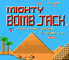 Mighty Bomb Jack title screenshot
