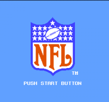 NFL title screenshot