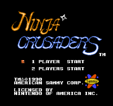 Ninja Crusaders title screenshot