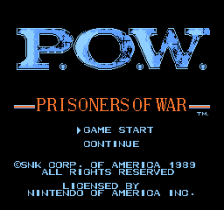 P.O.W. - Prisoners of War title screenshot