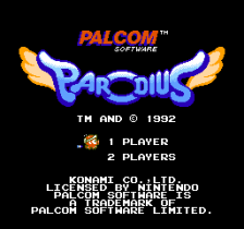 Parodius title screenshot