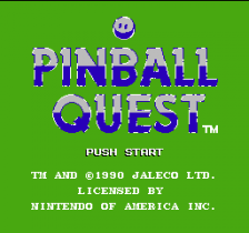 Pinball Quest title screenshot
