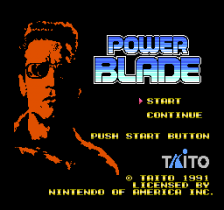 Power Blade title screenshot