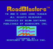 RoadBlasters title screenshot