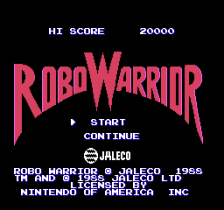 Robo Warrior title screenshot