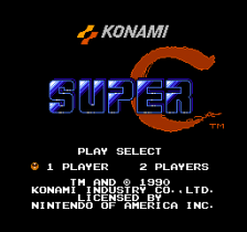 Super C title screenshot