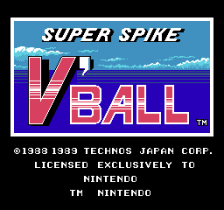 Super Spike V'Ball title screenshot