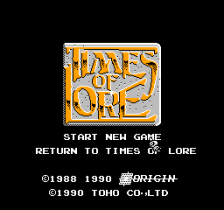 Times of Lore title screenshot