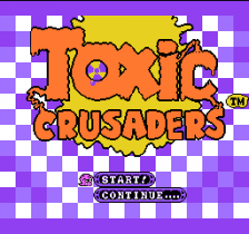 Toxic Crusaders title screenshot