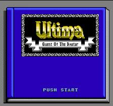 Ultima - Quest of the Avatar title screenshot