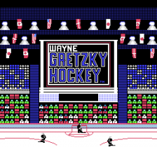 Wayne Gretzky Hockey title screenshot
