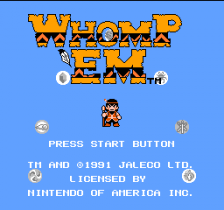 Whomp 'Em title screenshot