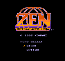 Zen - Intergalactic Ninja title screenshot