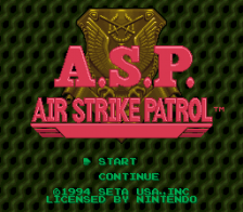 A.S.P. - Air Strike Patrol title screenshot