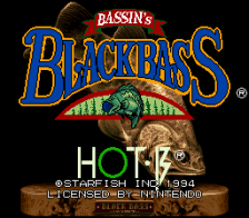 Bassin's Black Bass title screenshot