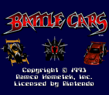 Battle Cars title screenshot