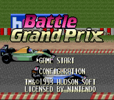 Battle Grand Prix title screenshot