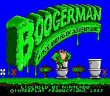 Boogerman - A Pick and Flick Adventure title screenshot
