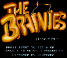 Brainies, The title screenshot