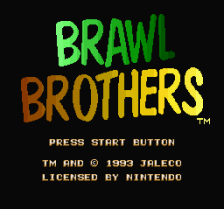 Brawl Brothers title screenshot