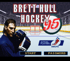 Brett Hull Hockey '95 title screenshot