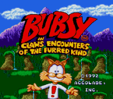 Bubsy in Claws Encounters of the Furred Kind title screenshot