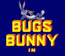 Bugs Bunny in Rabbit Rampage title screenshot