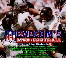 Capcom's MVP Football title screenshot