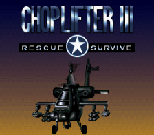 Choplifter III - Rescue Survive title screenshot