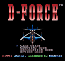 D-Force title screenshot
