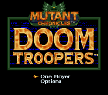 Doom Troopers title screenshot