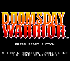 Doomsday Warrior title screenshot