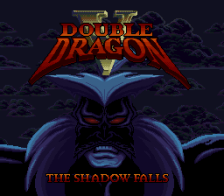 Double Dragon V - The Shadow Falls title screenshot