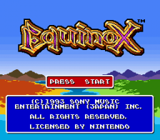 Equinox title screenshot