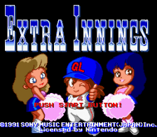 Extra Innings title screenshot