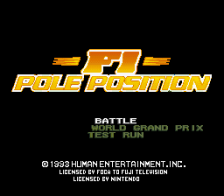 F1 Pole Position title screenshot