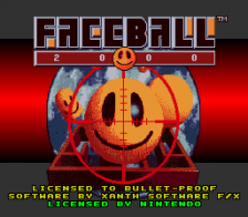 Faceball 2000 title screenshot