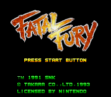 Fatal Fury title screenshot