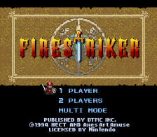 Fire Striker title screenshot
