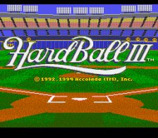 HardBall III title screenshot