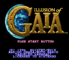 Illusion of Gaia title screenshot