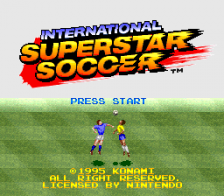 International Superstar Soccer title screenshot