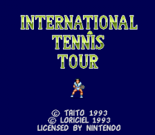 International Tennis Tour title screenshot