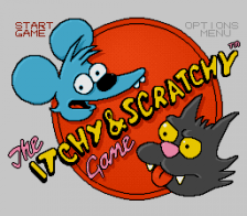 Itchy & Scratchy Game, The title screenshot