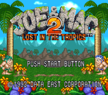 Joe & Mac 2 - Lost in the Tropics title screenshot