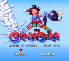 Kid Klown in Crazy Chase title screenshot