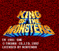 King of the Monsters title screenshot