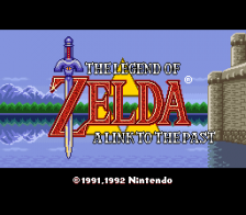 Legend of Zelda, The - A Link to the Past title screenshot